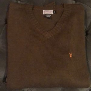 Other - Brown V-Neck Sweater